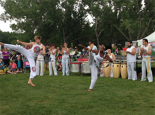 Capoeira performance outside the Brazil tent at Heritage Festival!