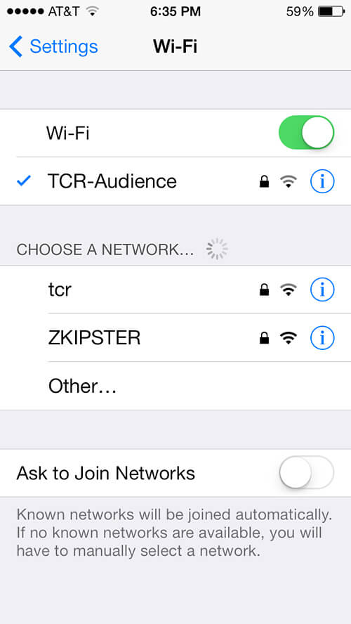 The Colbert Report Audience wifi! Locked you say? We figured out the password!