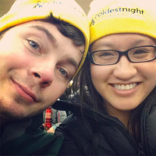 Mike and me at the 2013 Coldest Night of the Year walk!