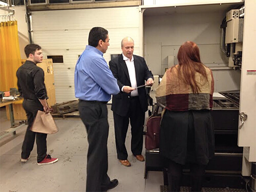 After dinner tour of the Shell Manufacturing Centre with NAIT President & CEO Dr. Glenn Feltham!