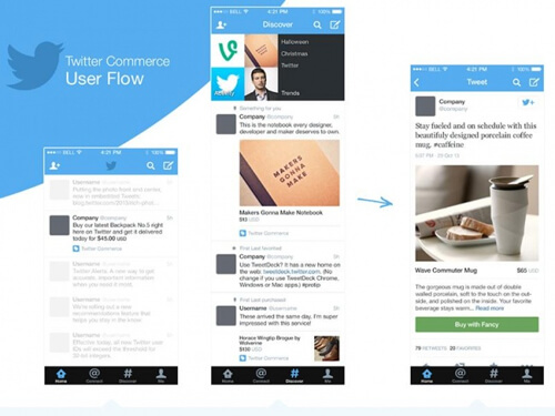 'Twitter Commerce' screenshots point to a new 'buy' button. Photo credit: www.digitaltrends.com