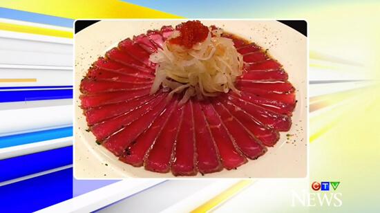 Delicious beef tataki from Kenko Japanese!