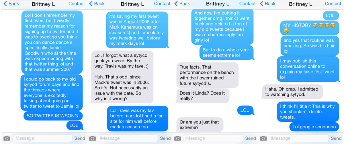 My moment of realization with @britl.