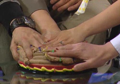 Close-up of the cake smash!