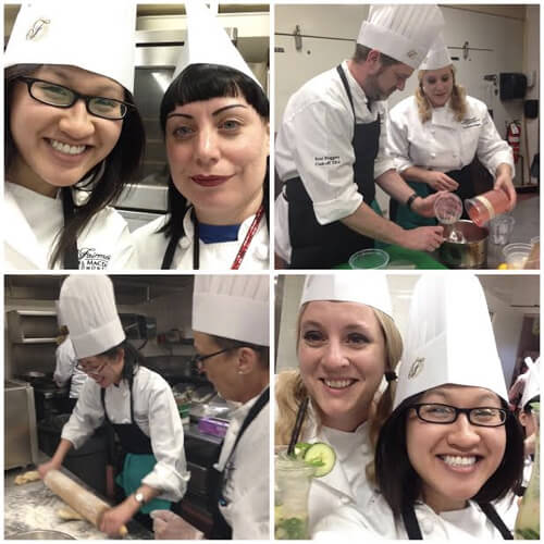 In the kitchens of the Fairmont Hotel MacDonald!
