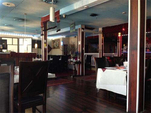 Inside Afghan Chopan Kebab at 10756 101 Street.