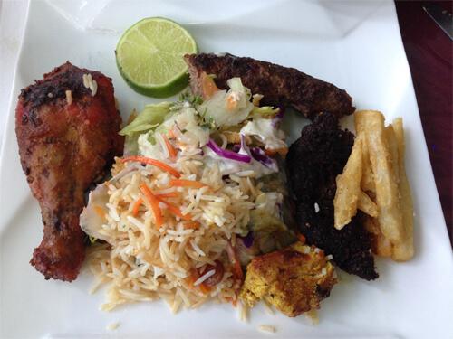 A tasty lunch at Afghan Chopan Kebab!