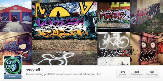 Edmonton Instagram - yeggraff
