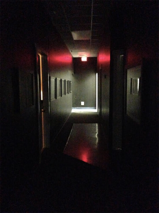 Hallway to the escape rooms!