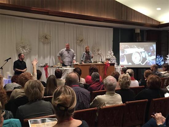 Big crowd for Michael & Anna Olson!