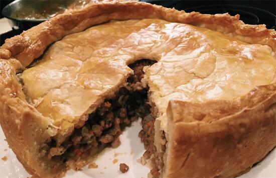 Classic Toutiere (meat pie). Mmm!