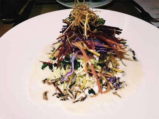 Crunchy Salad (Raw, Pickled & Fried Vegetables) at North 53!