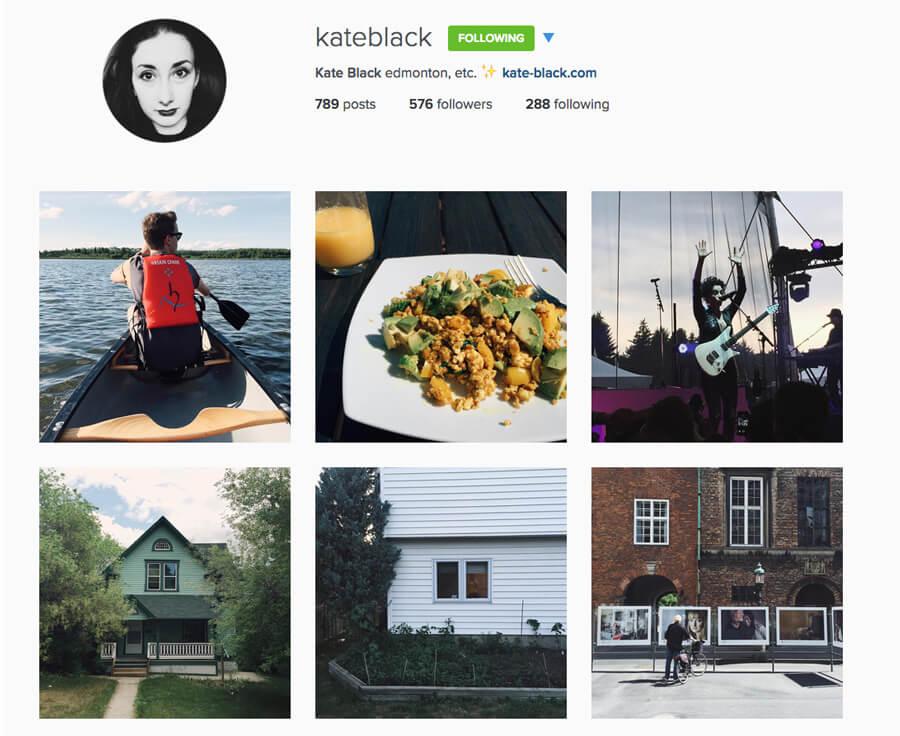 Edmonton Instagram Users - kateblack