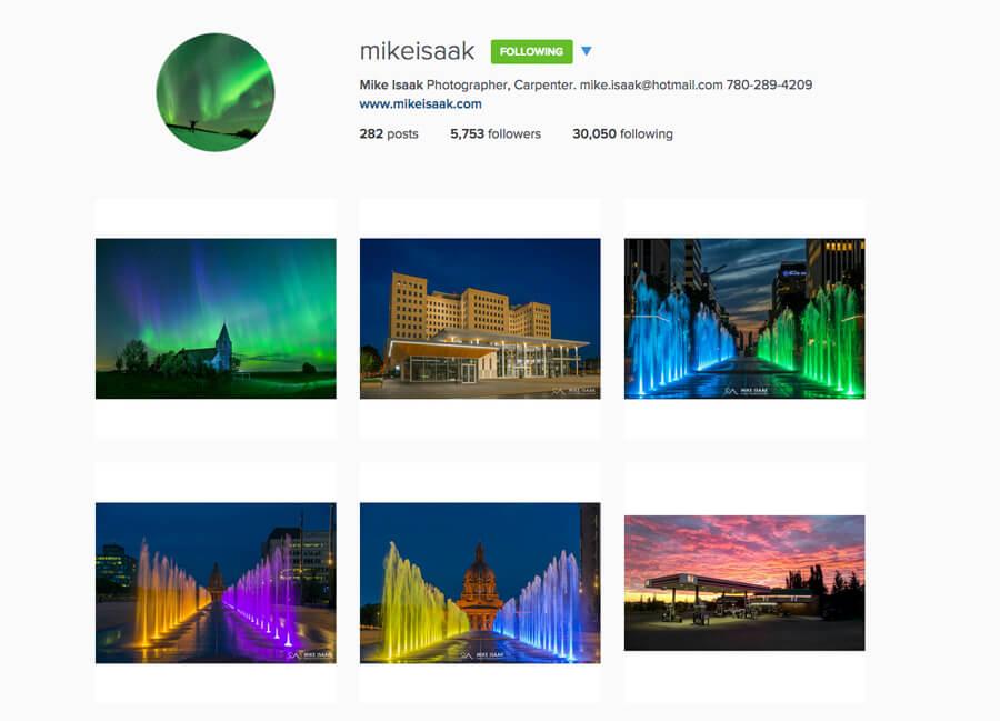 Edmonton Instagram Users - mikeisaak