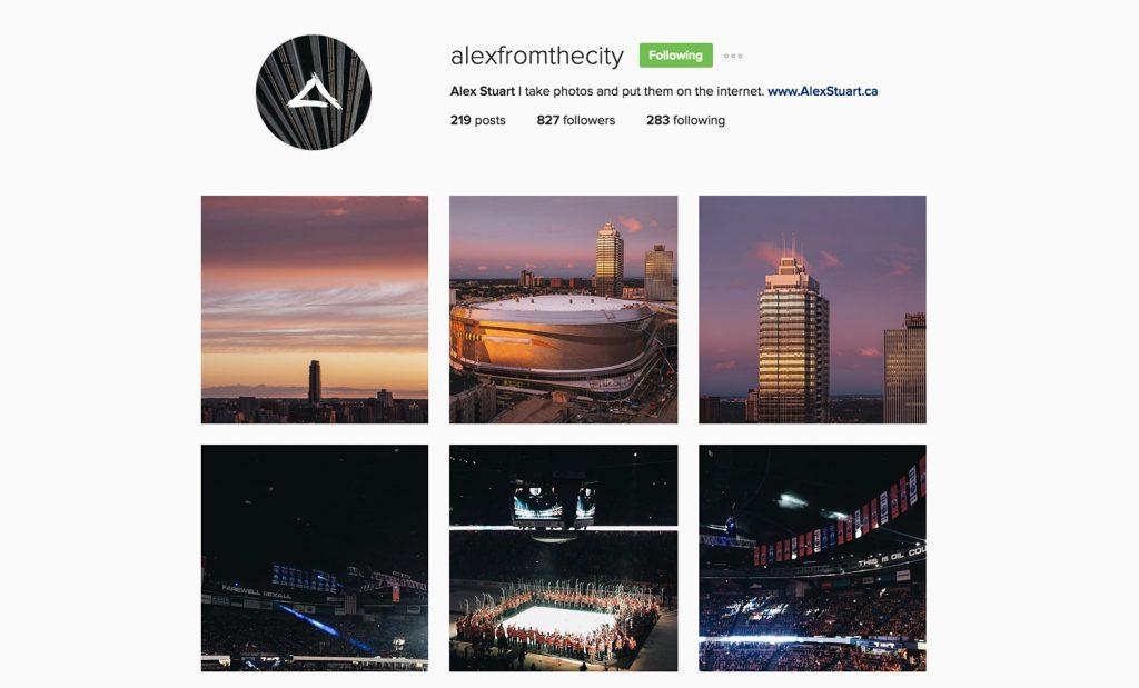 Edmonton Instagram Users - alexinthecity - Social Media