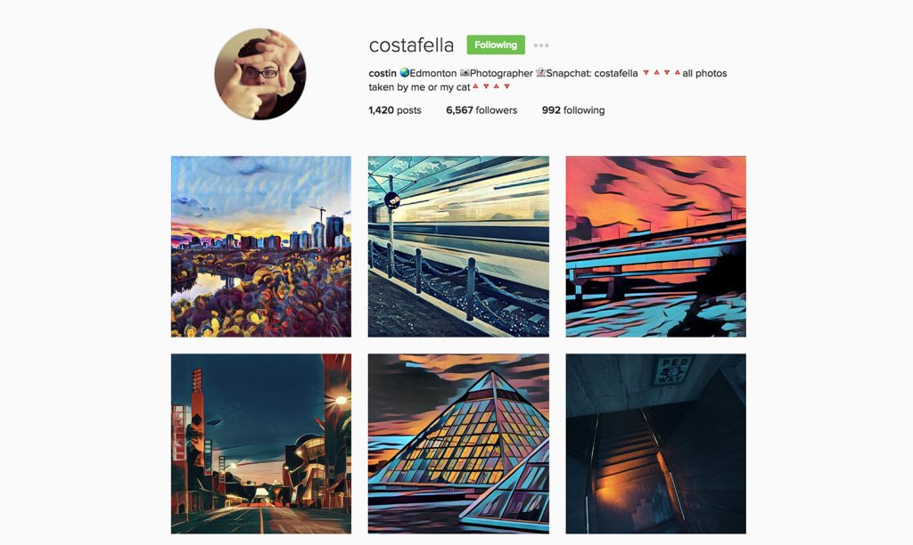 Edmonton Instagram Users - costafella - Social Media