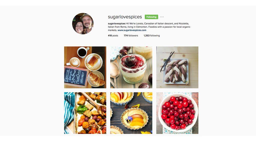 Instagram Edmonton - sugarlovespices