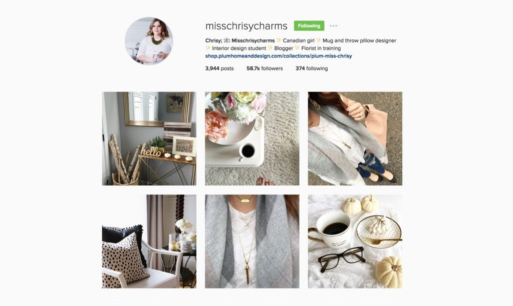 Edmonton Social Media Instagram Users - misschrisycharms