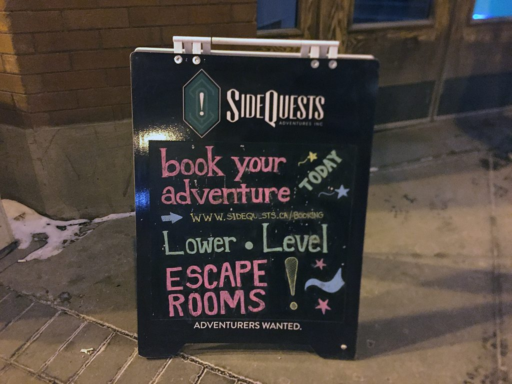 SideQuests Adventure Inc Edmonton Escape Rooms