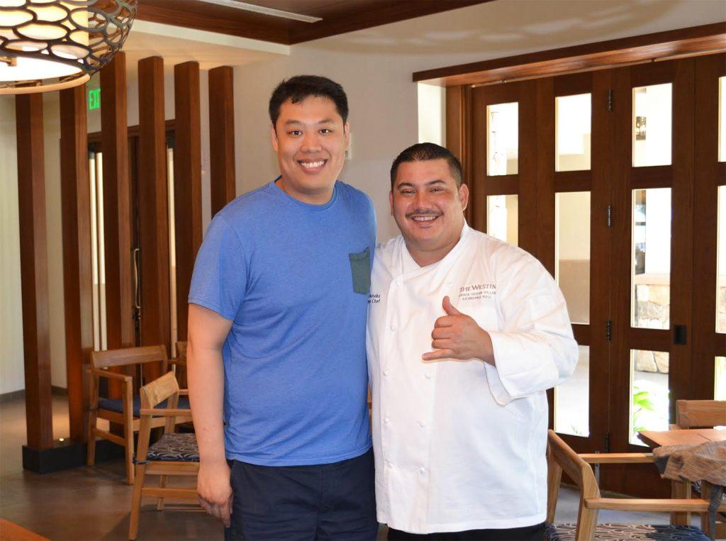 Chef Lawrence and Chef Ikaika Manku