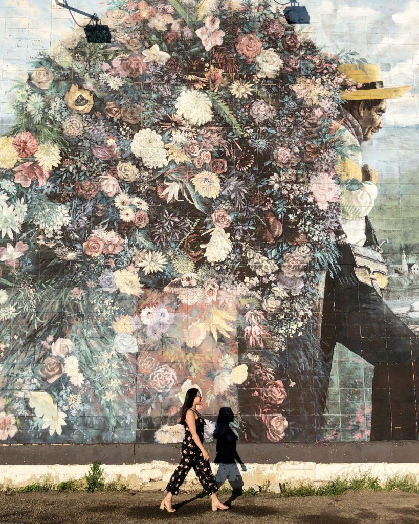 Floral Wall 72 Street 101 Avenue Edmonton