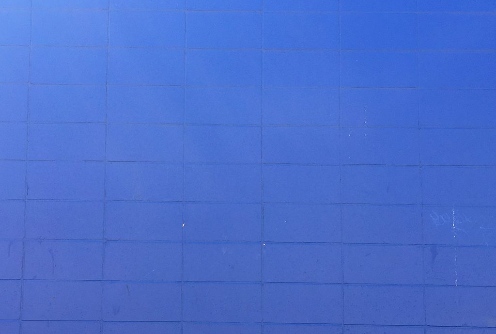 Instagrammable Walls of Edmonton - Blue Wall - Whyte Avenue