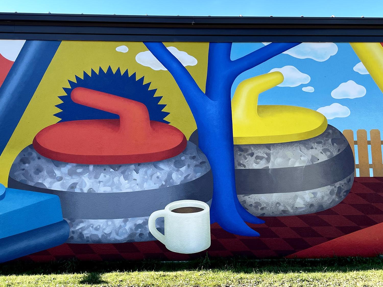 Instagrammable Walls of Edmonton - Explore Edmonton - Murals - Jasper Place Curling Club jill V Stanton 2