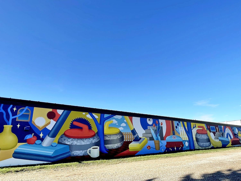 Instagrammable Walls of Edmonton - Explore Edmonton - Murals - Jasper Place Curling Club jill V Stanton