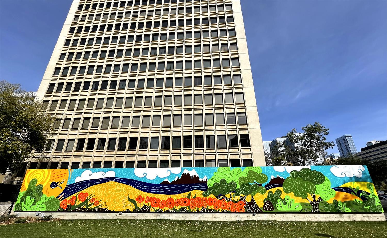 Instagrammable Walls of Edmonton - Explore Edmonton - Murals - Walls - Downtown - Alberta Blue Cross Curio Studio Adielle Design