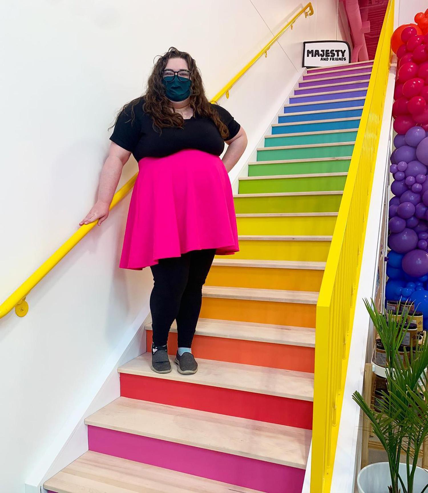 Instagrammable Walls of Edmonton - Explore Edmonton - Murals - Walls - Majesy and Friends Rainbow Stairs