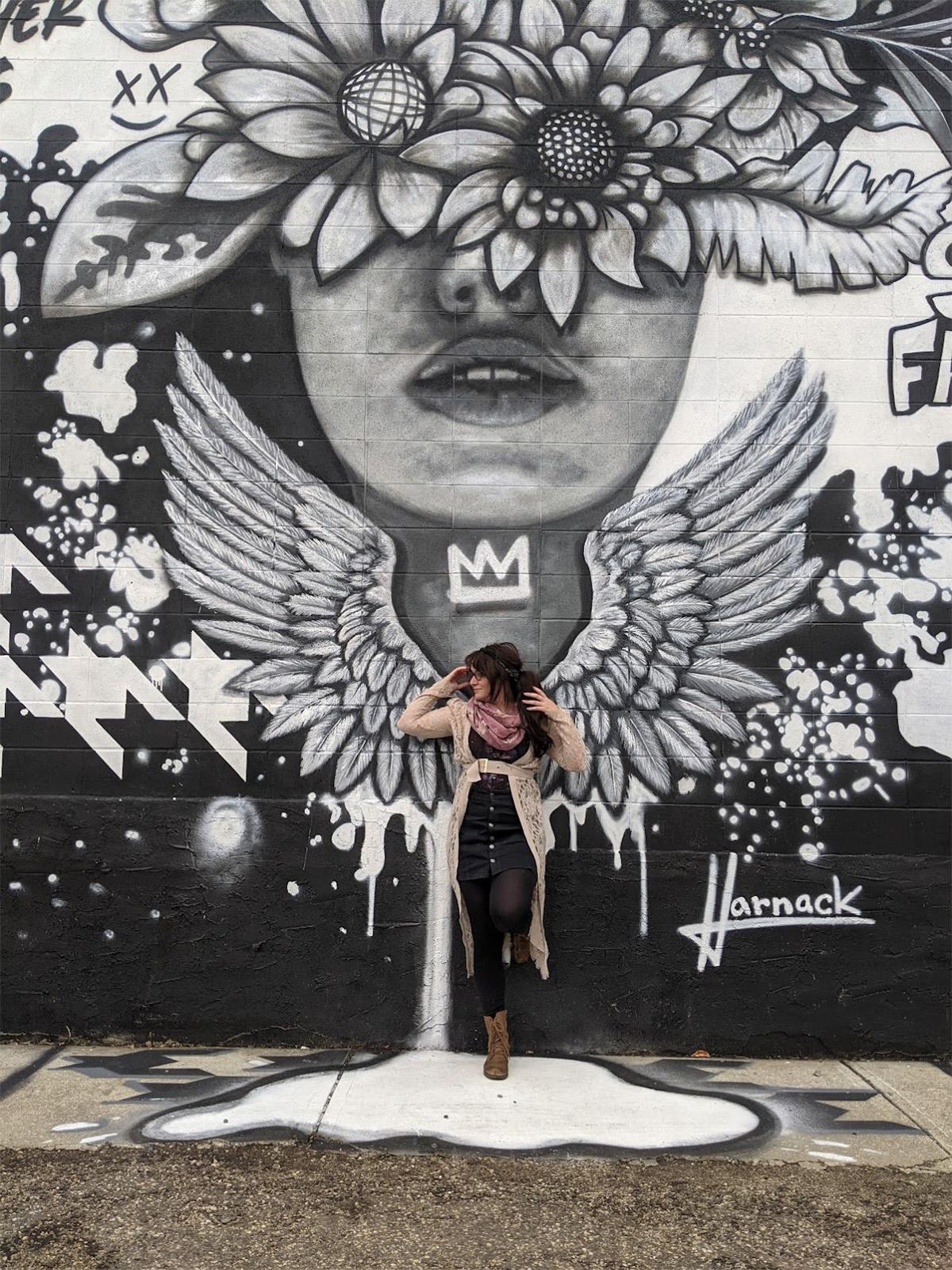 Instagrammable Walls of Edmonton - Explore Edmonton - Murals - Walls - South Edmonton - EMMYDEVEAUX Josh Harnack