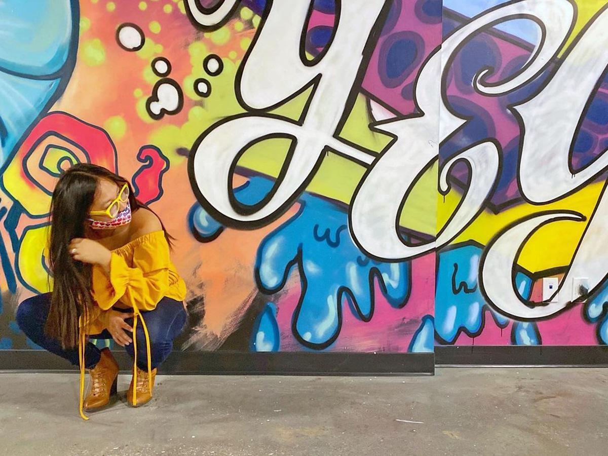 Instagrammable Walls of Edmonton - Explore Edmonton - Murals - Walls - West Edmonton Mall - Drive Go Karting Walls