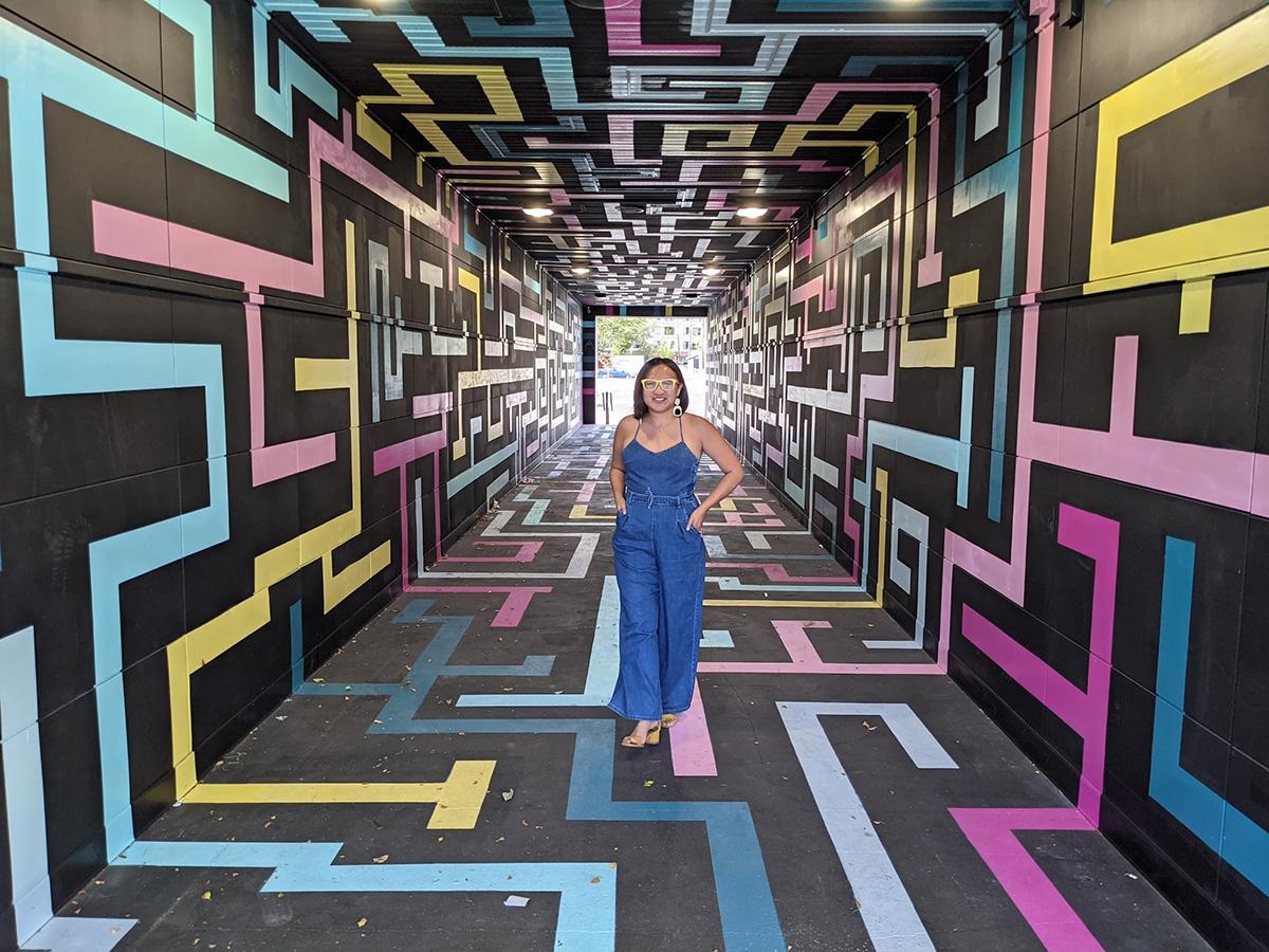 Instagrammable Walls of Edmonton - Explore Edmonton - Murals - Walls - West Edmonton Stony Plain Road Vignettes Tunnel
