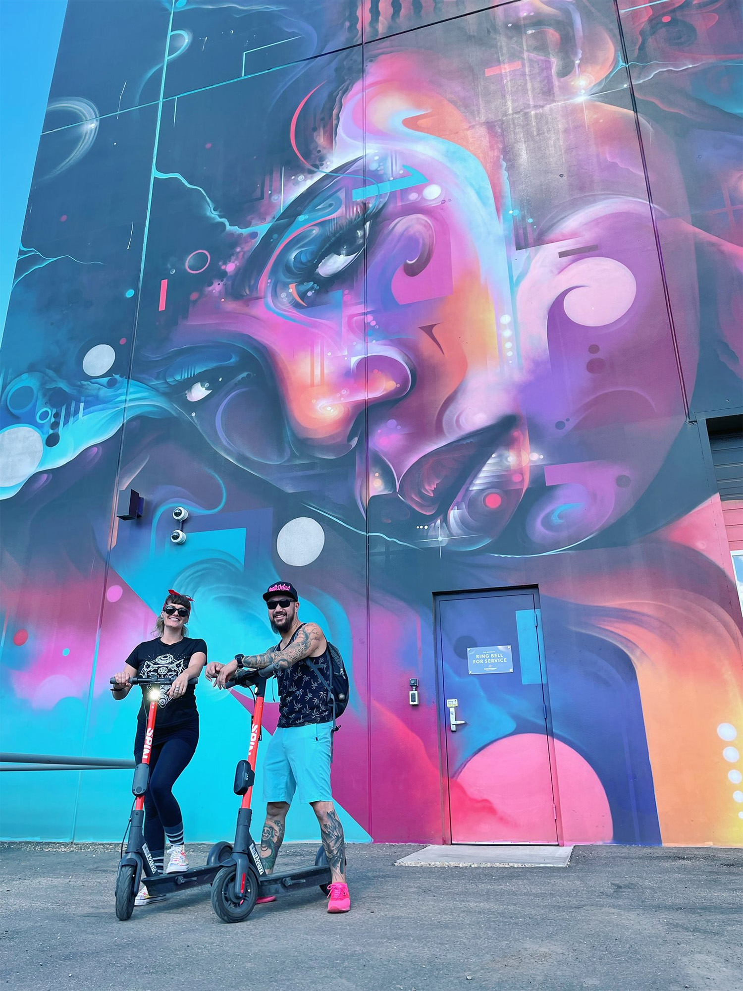 Instagrammable Walls of Edmonton - Explore Edmonton - Murals - Walls - Whyte Ave Old Strathcona - Blind Enthusiasm The Monolith Art Mr Cenz