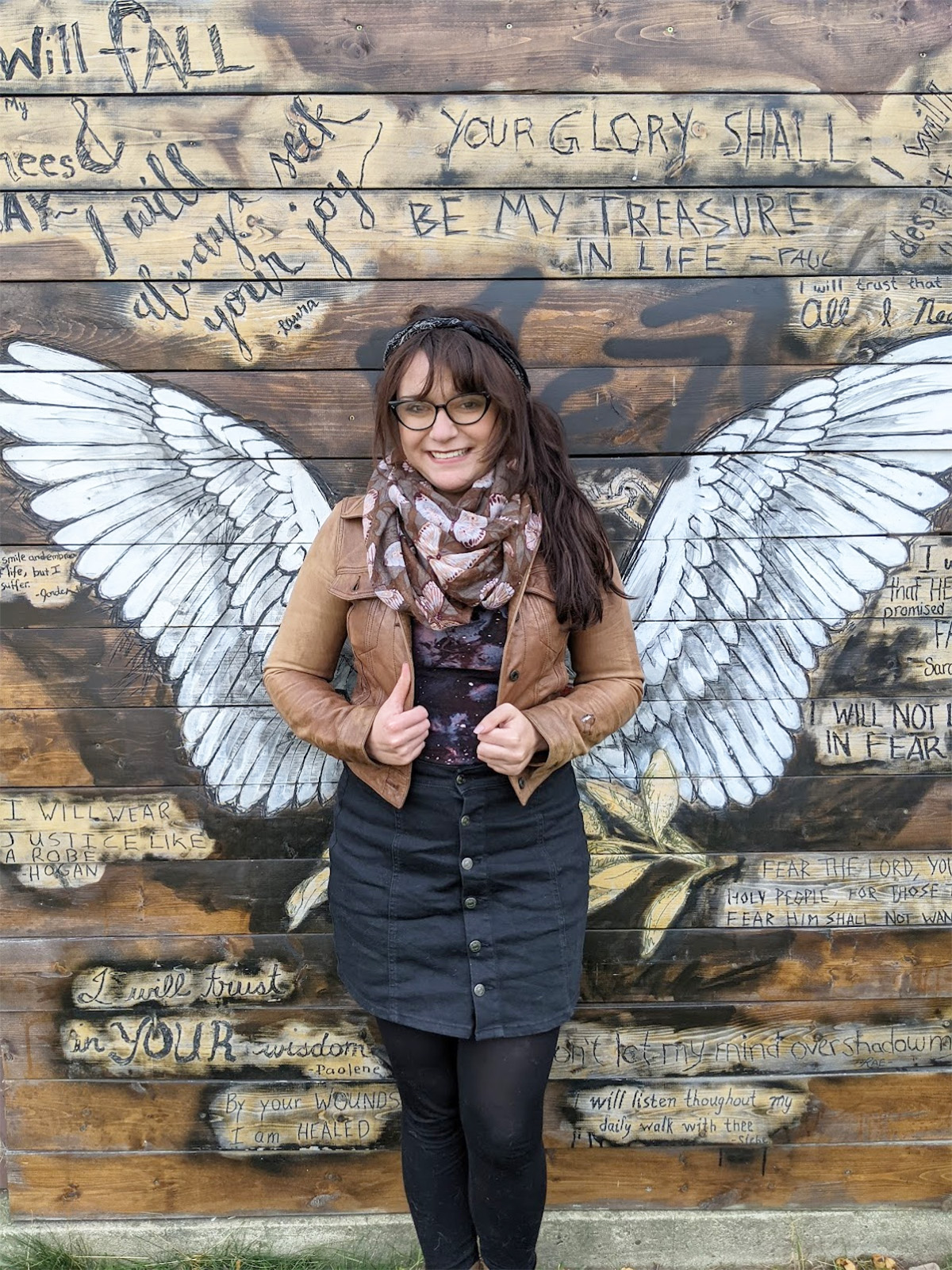 Instagrammable Walls of Edmonton - Explore Edmonton - Murals - Walls - Whyte Ave Old Strathcona - Knox Church Connor Cantelon Wings