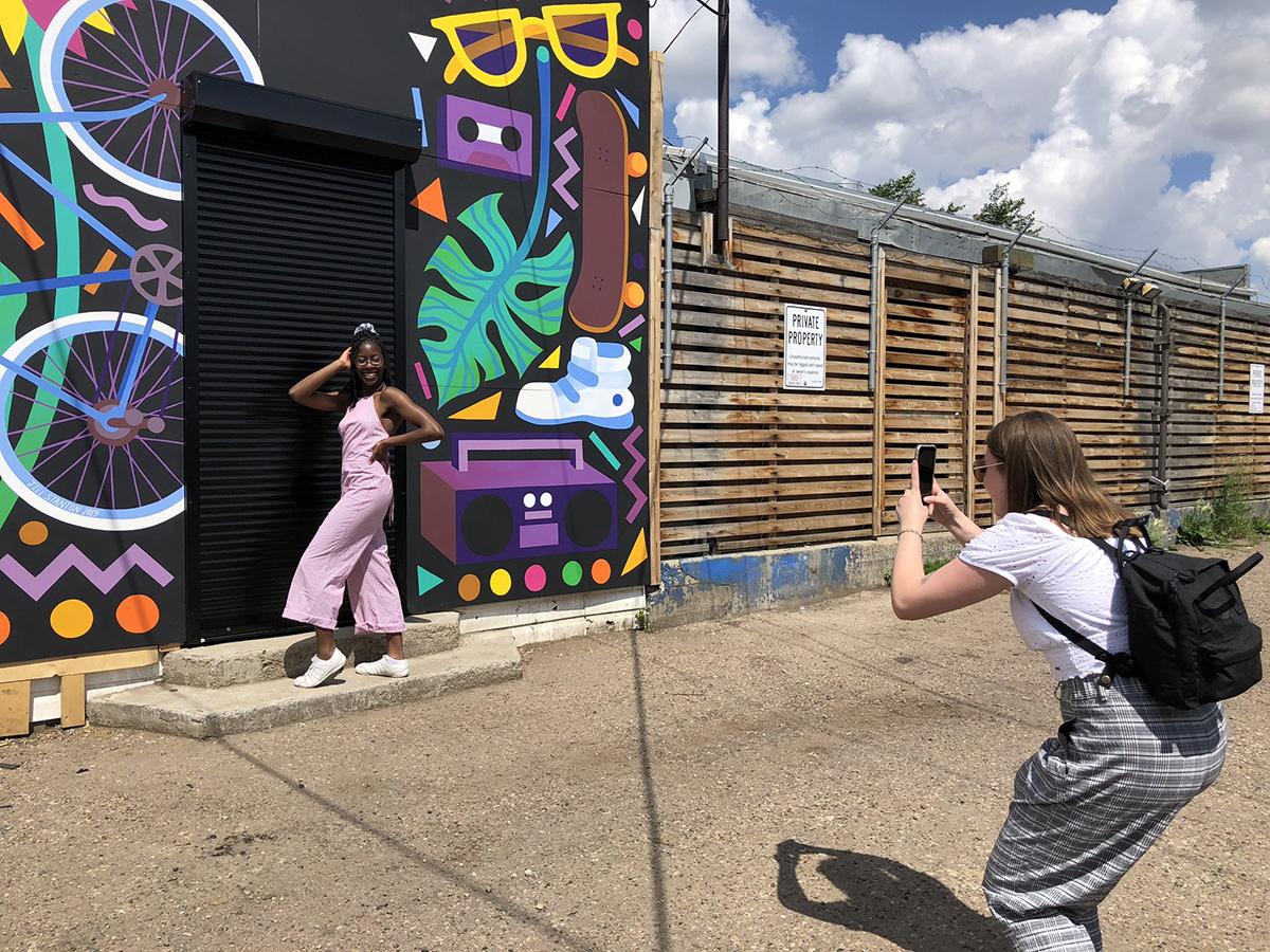 Instagrammable Walls of Edmonton - Explore Edmonton - Murals - Walls - Whyte Ave Old Strathcona - Waffles Jill V Stanton