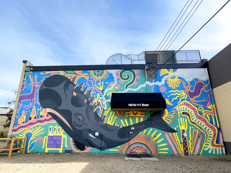 Instagrammable Walls of Edmonton - Explore Edmonton - Seve - Top Draw - Whale Mural