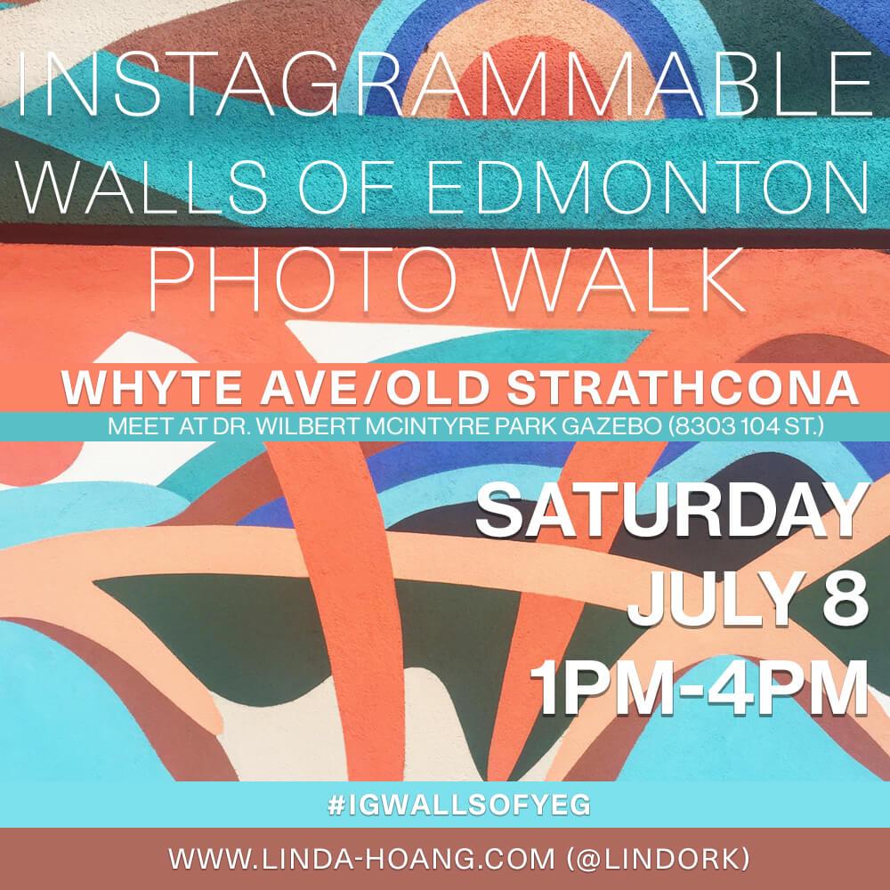 Instagrammable Walls of Edmonton Photo Walk Poster