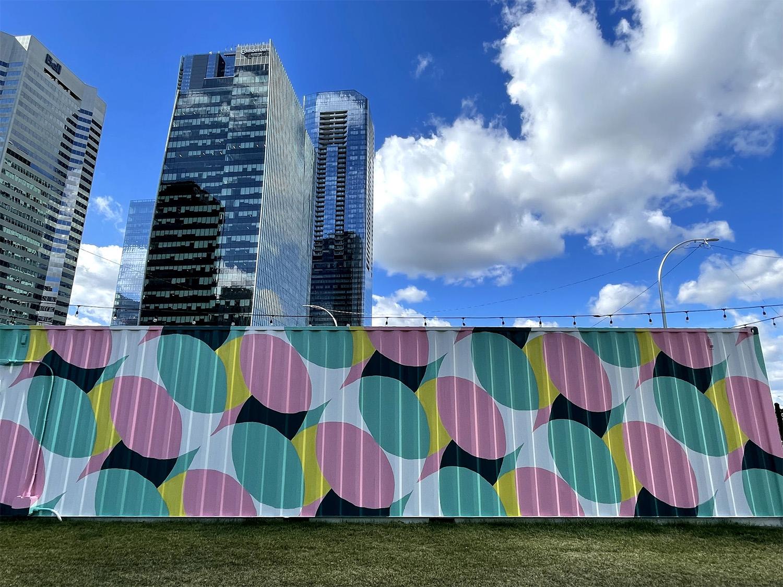 Instagrammable Walls of Edmonton - Vignettes - The Backyard - Downtown Explore Edmonton