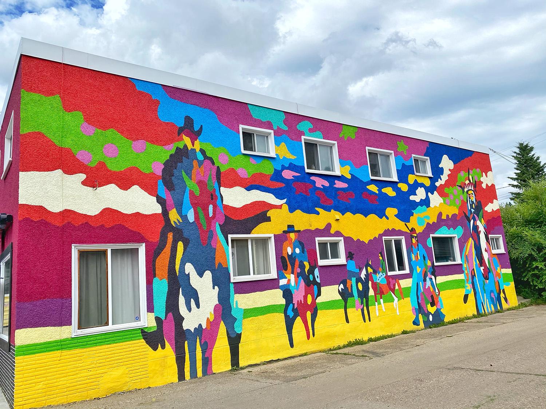 Jean Paul Langois Metis Artist - Instagrammable Walls of Edmonton - Parkallen