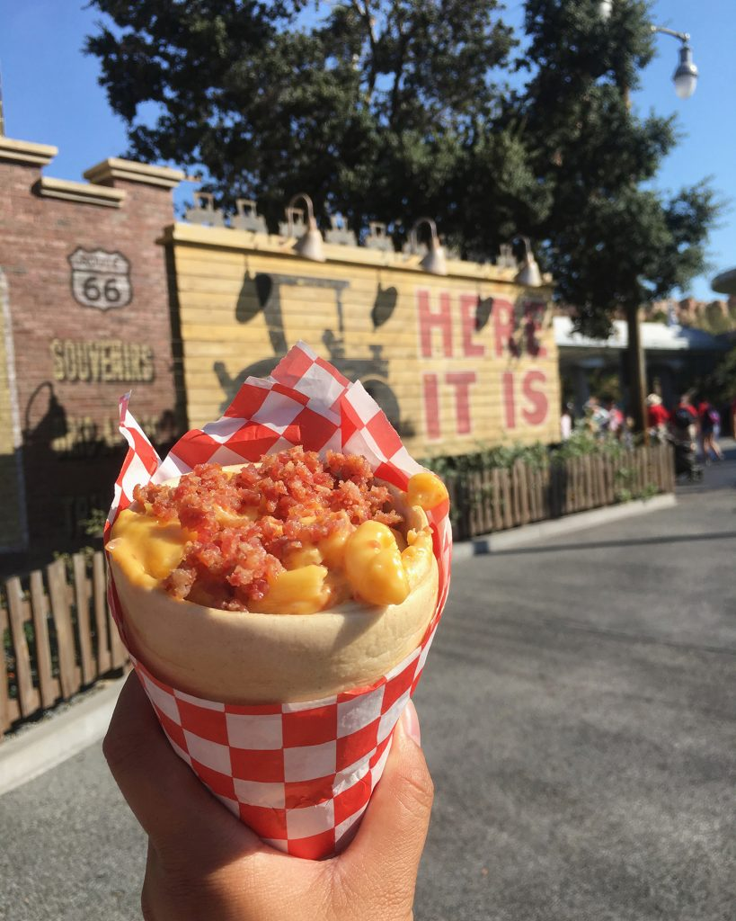 Disneyland California Adventure Food - Bacon Mac n Cheese Cone