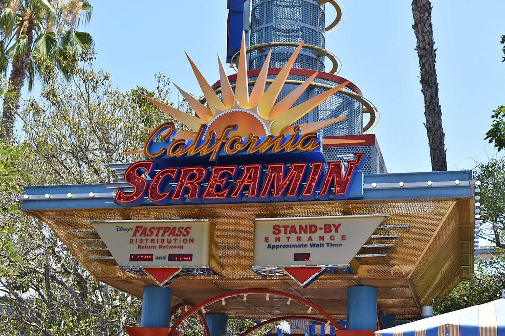 Disneyland California Adventure - Paradise Pier - Amusement Park Rides - California Screamer