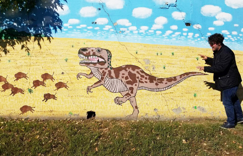 Instagrammable Walls of Calgary - Dinosaur