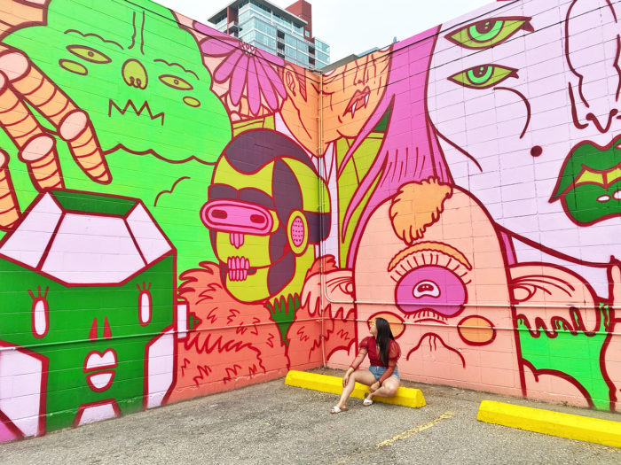 Instagrammable Walls of Calgary - Murals - YYC Beltline Urban Mural Project BUMP Festival - Mono Sourcil