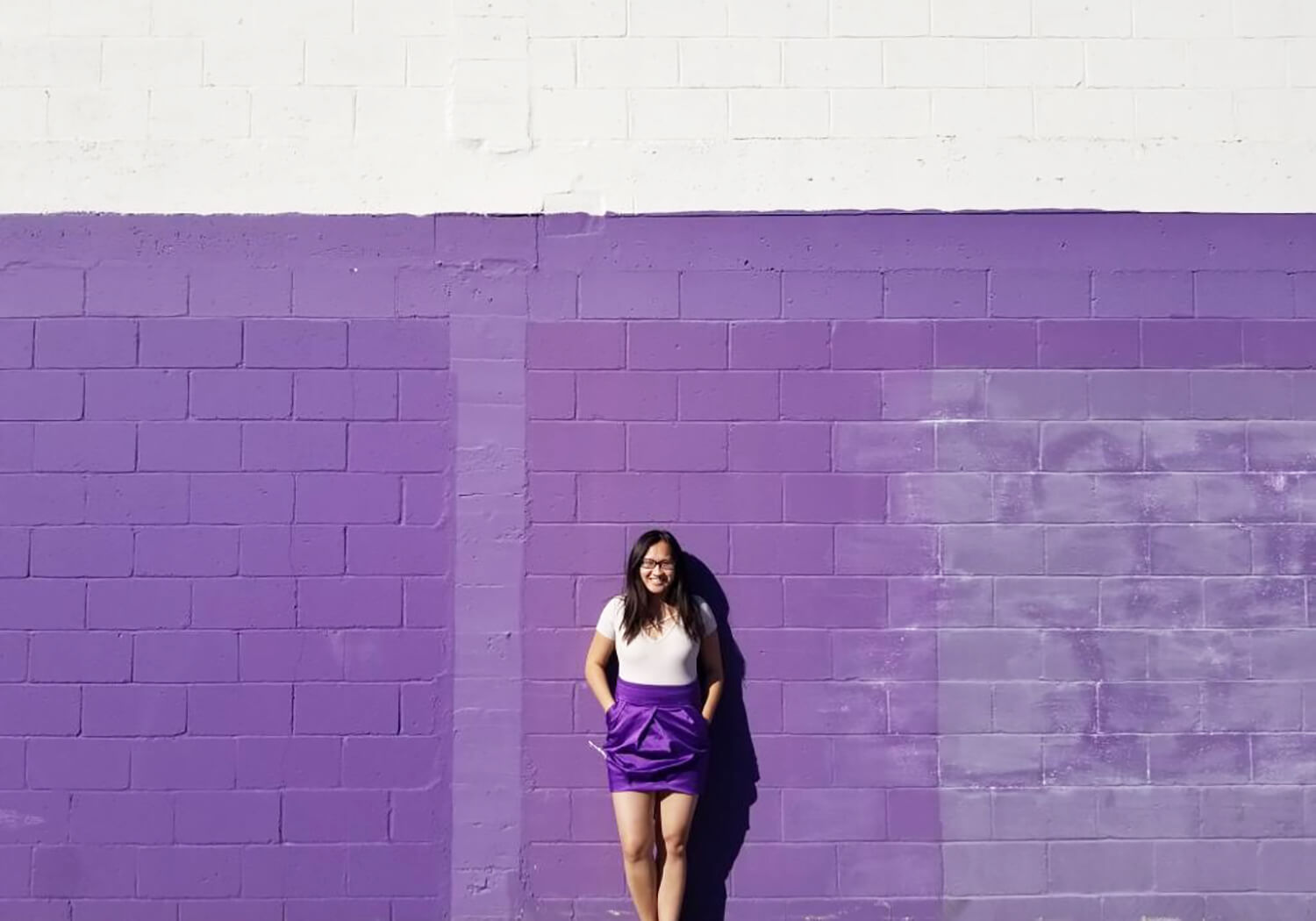 Instagrammable Walls of Calgary - Purple Wall