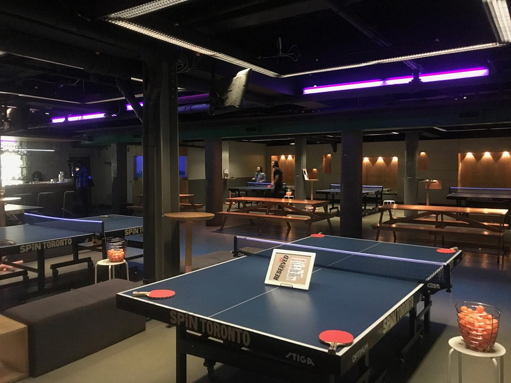 What to do in Toronto - Spin Ping Pong Bar