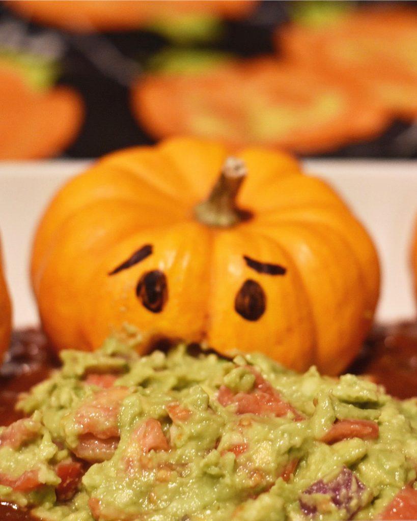 Halloween Food - Pumpkin Guacamole