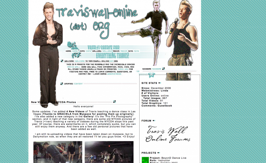 Travis Wall Online Fan Site So You Think You Can Dance