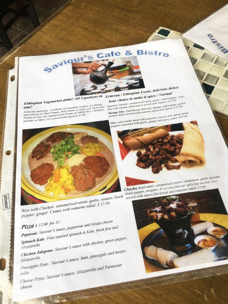 Saviour's Cafe and Bistro Ethiopian Restaurant St. Albert