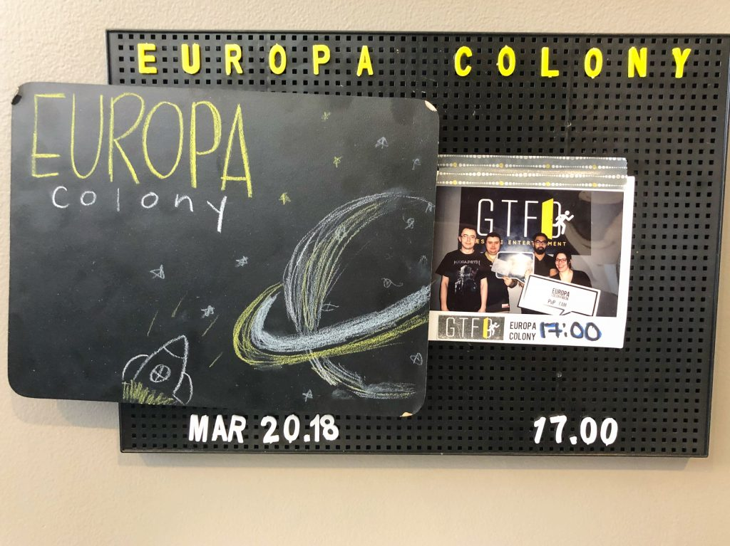 GTFO Escape Room Edmonton - Europa Colony 4836 - Downtown Explore
